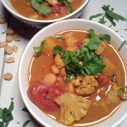 African peanut butter and chickpea stew