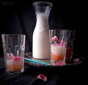 Rose Lassi + Simple Rose Syrup Recipe