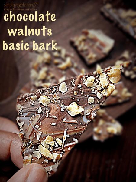 Chocolate Walnuts Basic Bark
