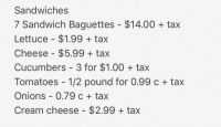 Deli Style Cold Baguette Sandwiches