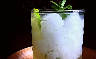 Gin Rickey {Honey Ginger Mint} Cocktail