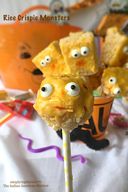 Rice Crispie Monsters - Glutenfree Halloween Treats