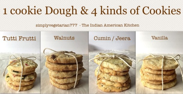 1 Easy Basic Cookie Dough 4 Different Cookies