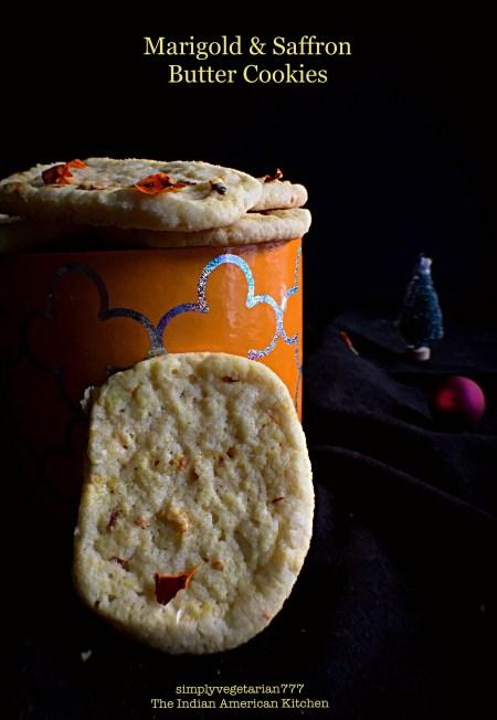 Marigold Saffron Butter Cookies