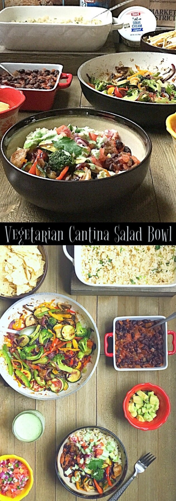 Vegetarian Cantina Salad Bowl with Giant Eagle Curbside Express Delivery #ad #GiantEagleDelivers #vegetariansalad #texmex #cantinasalad #easyrecipes