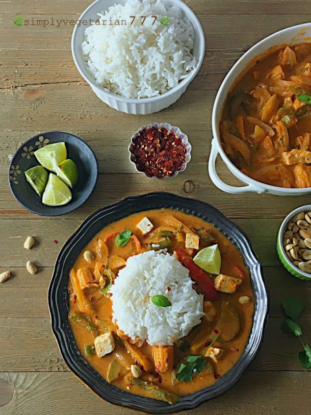 Instant pot red thai curry recipe easy oil free vegan glutenfree instant pot red thai curry recipe forumfinder Image collections