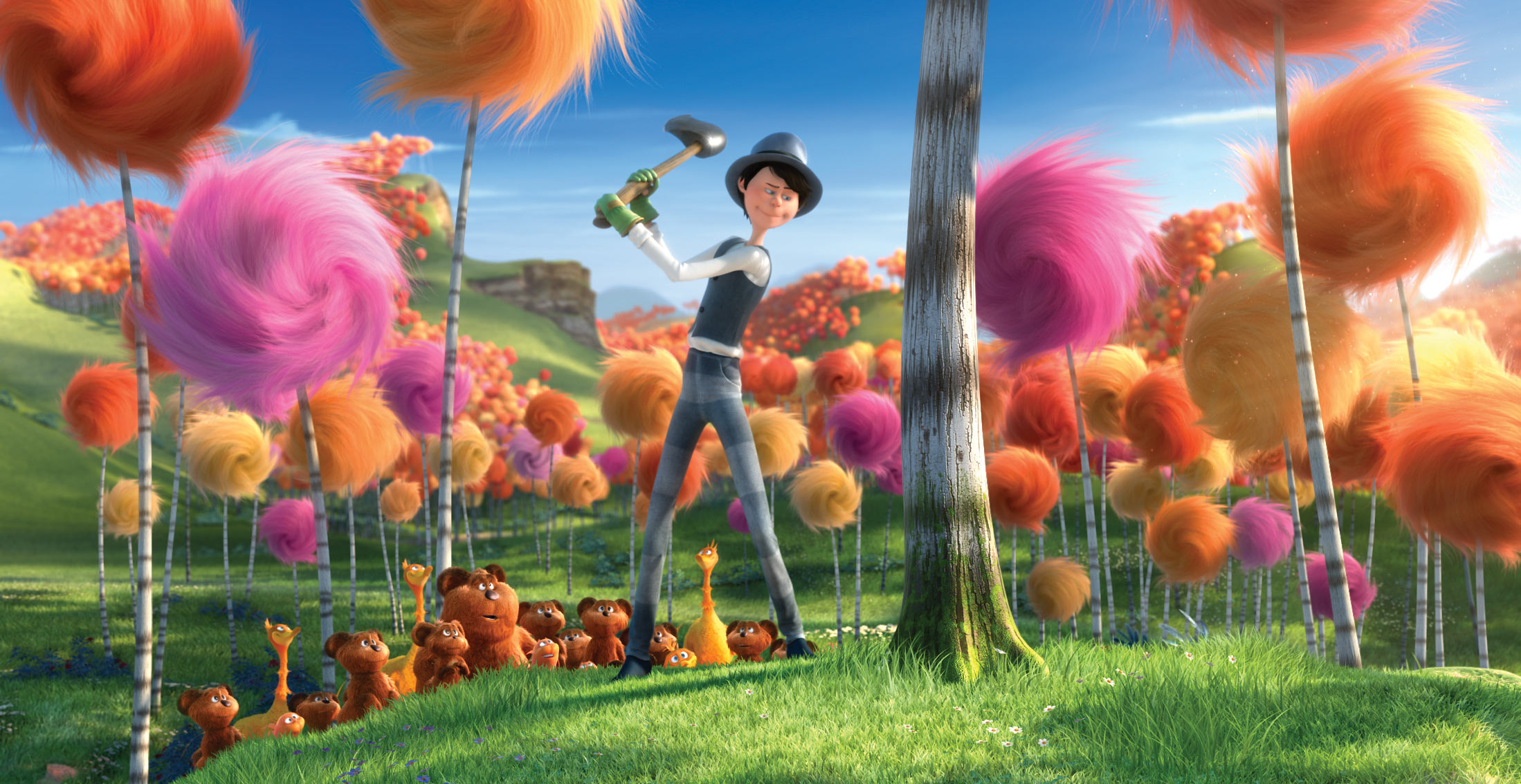 Book Lorax Once Ler Cutting Down Trees