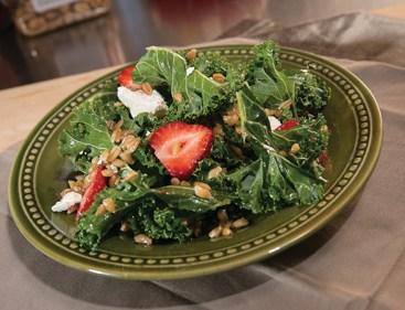 Strawberry Kale and Farro Salad