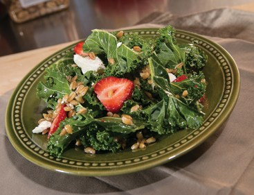 Strawberry Kale and Farro Salad