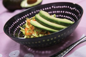 avocado salad in bowl