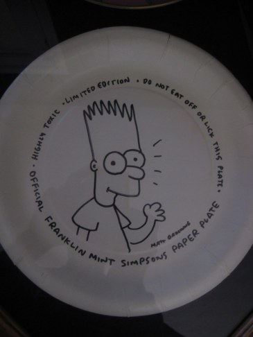 Matt doodled this plate during a dubbing session in 1990 - he gave it to me