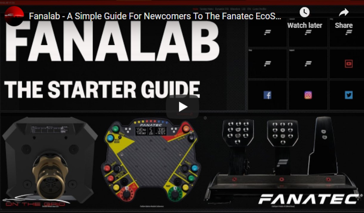 Fanalab How to use guide for the Fanatec Ecosystem