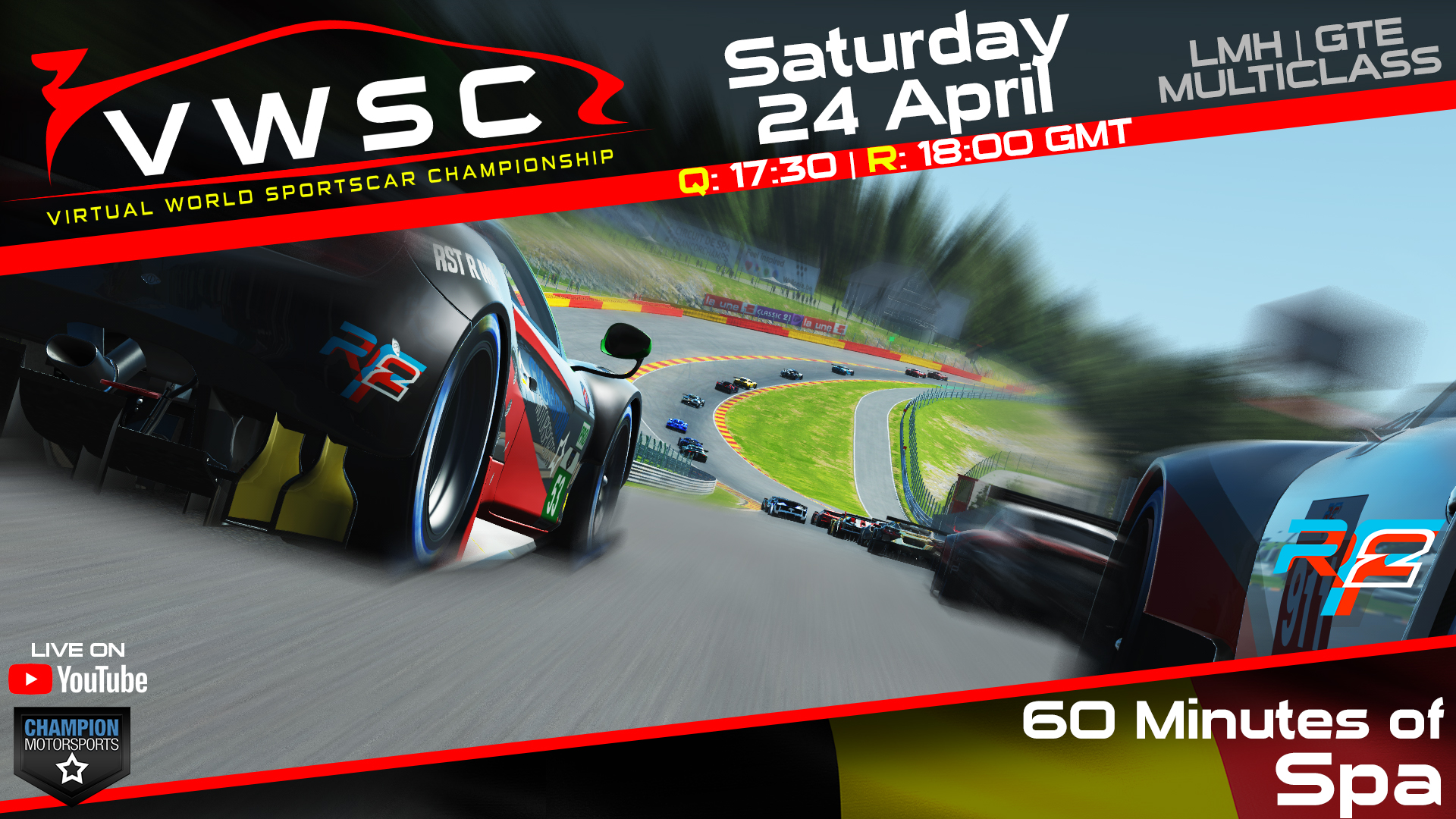CMS World Sportscar Championship – 60 Minutes of Spa