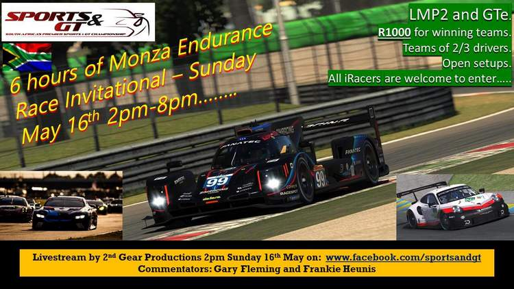 iRacing 2021 Monza 6-Hour on 16 May free sign-up