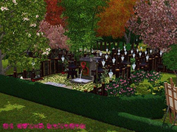 Сад цветущей вишни от ЮлииКолобок 187 SimsNewsRu Новости