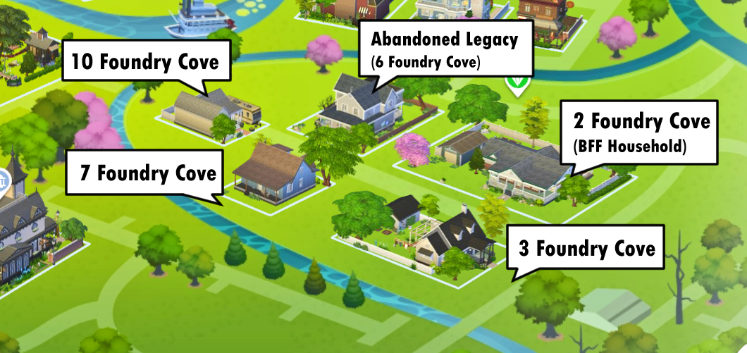 Map of Foundry Cove in Willow Creek