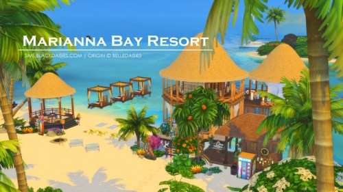 Marianna Bay Resort a Sims 4 Island Living Build by simdaisies