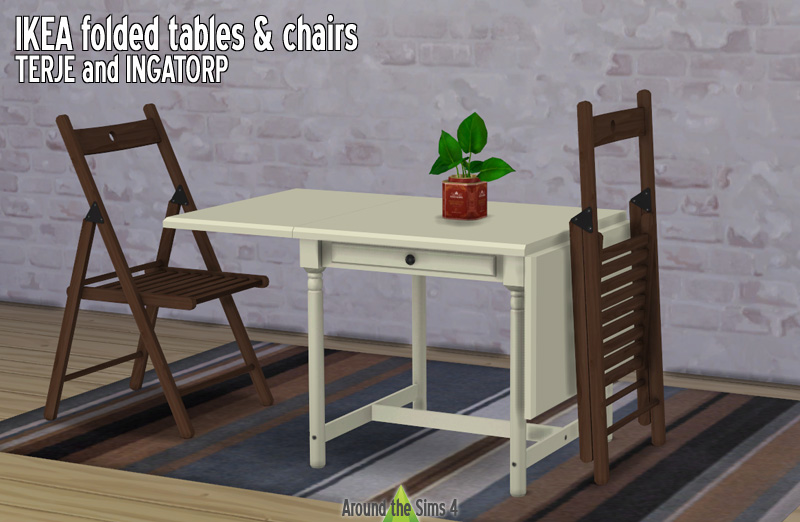 Around The Sims 4 Custom Content Download Ikea Foldable Chair Table
