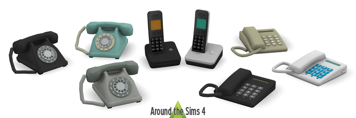 Around The Sims 4 Custom Content Download Home Phones