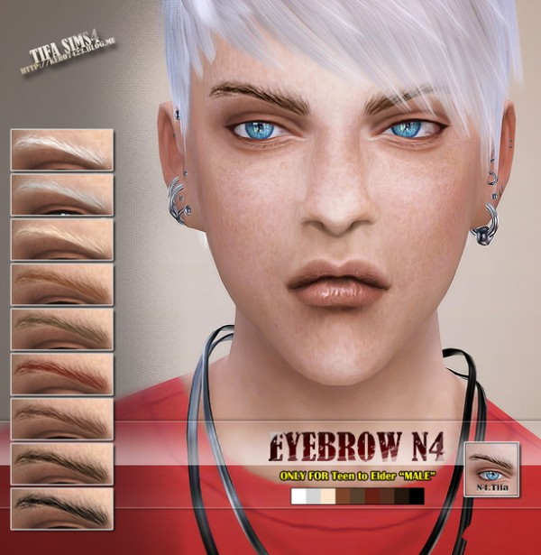 Tifa Sims Eyebrows N4 For Males Sims 4 Downloads