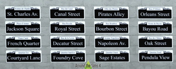 Around The Sims 4 Paris Street Signs Sims 4 Downloads