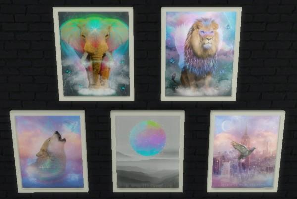 Sunshine Amp Roses Custom Content Mystical Wall Art Sims