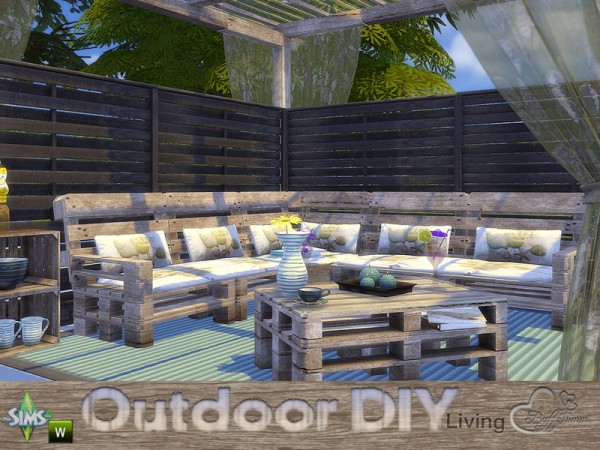The Sims Resource: DIY Outdoor Living by Buffsumm • Sims 4 ... on Cc Outdoor Living id=92721