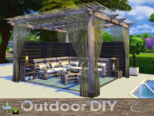 The Sims Resource: DIY Outdoor Living by Buffsumm • Sims 4 ... on Cc Outdoor Living id=64742