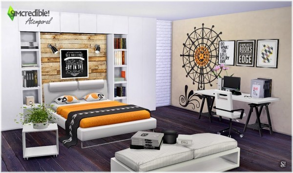 SIMcredible Designs Atemporal Bedroom Sims 4 Downloads