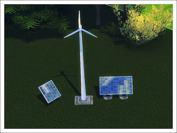 Sims 4 Designs Windmill And Solar Panels Set Sims 4
