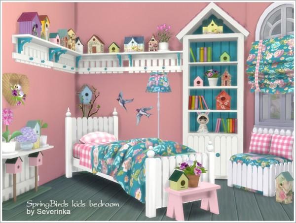 Sims By Severinka Kids Bedroom Spring Birds Sims 4