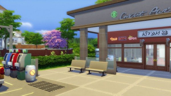 Melissa Sims 4 Cafe Amp Gas Station NoCC Sims 4 Downloads