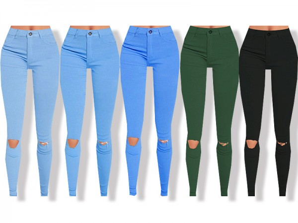 The Sims Resource High Waisted Skinny Jeans By