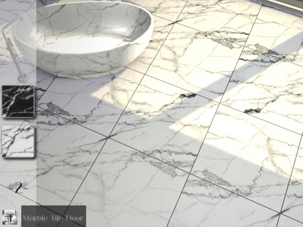 The Sims Resource Marble Tile Floor Set By Torque Sims