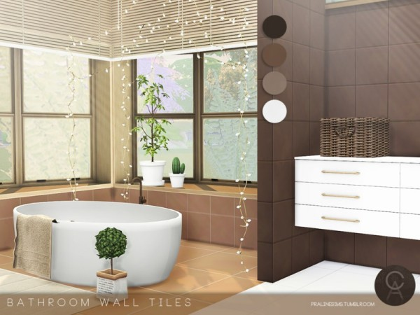 The Sims Resource Bathroom Wall Tiles By Pralinesims