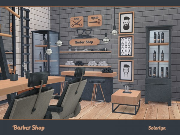 The Sims Resource Barber Shop By Soloriya Sims 4 Downloads