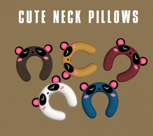 leo 4 sims cute neck pillow sims 4