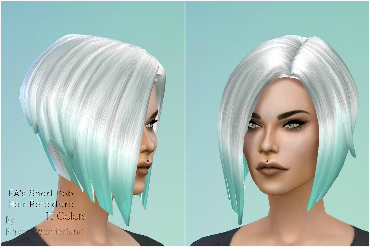 Sims 4 Hairs Welcome To The Jungle Short Bob Hairstyle