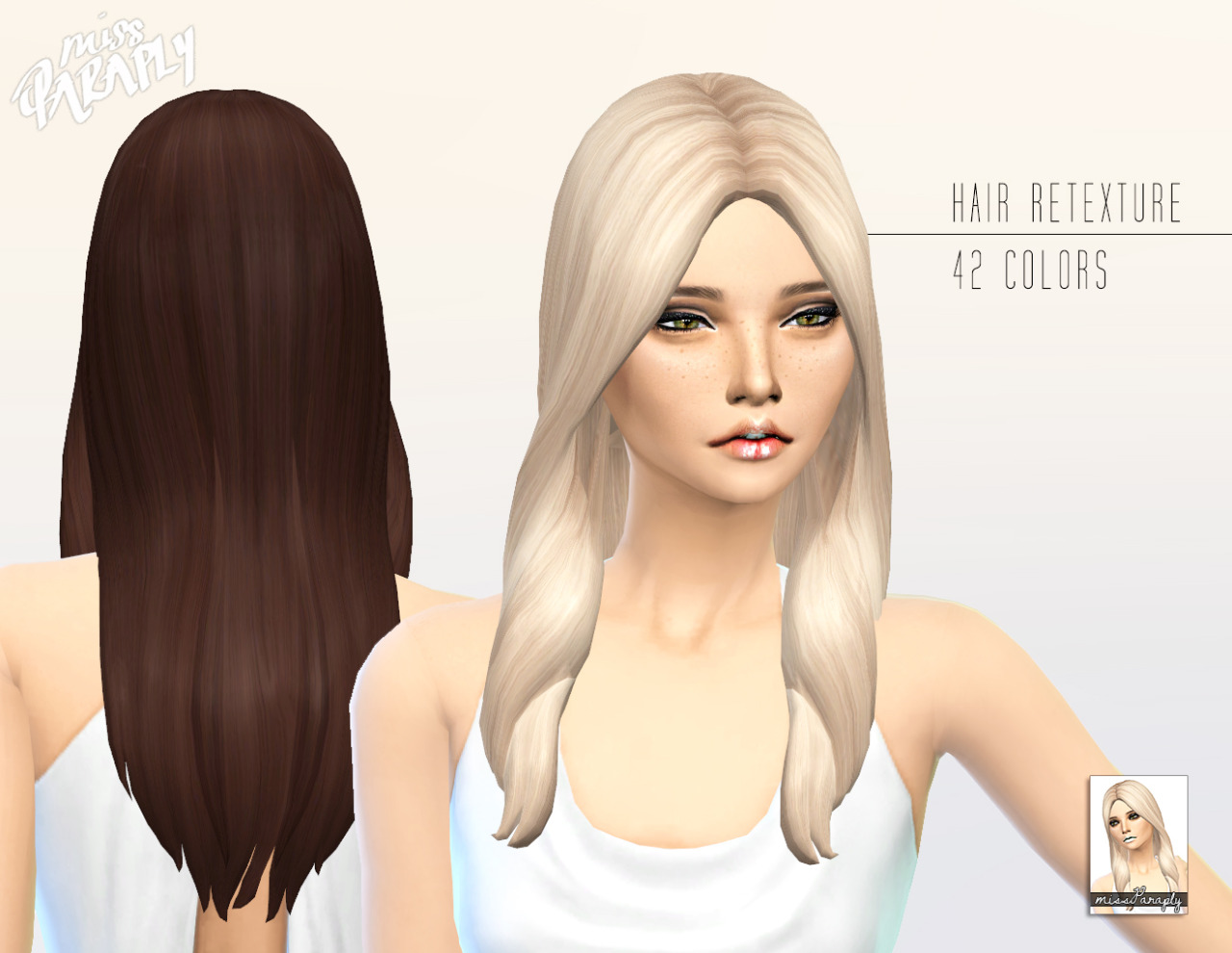 Sims 4 Hairs Miss Paraply Kiara 24 Oblivion Hairstyle
