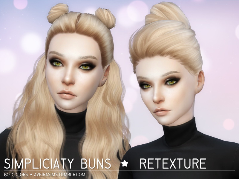 Sims 4 Hairs Aveira Sims 4 Simpliciaty Buns Hairs