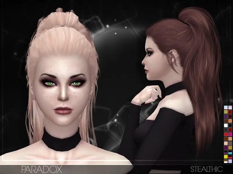 Sims 4 Hairs Stealthic Paradox Hair