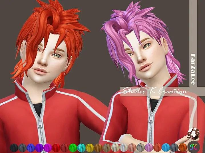 Sims 4 Hairs Studio K Creation Animate Hair 47 JOJO