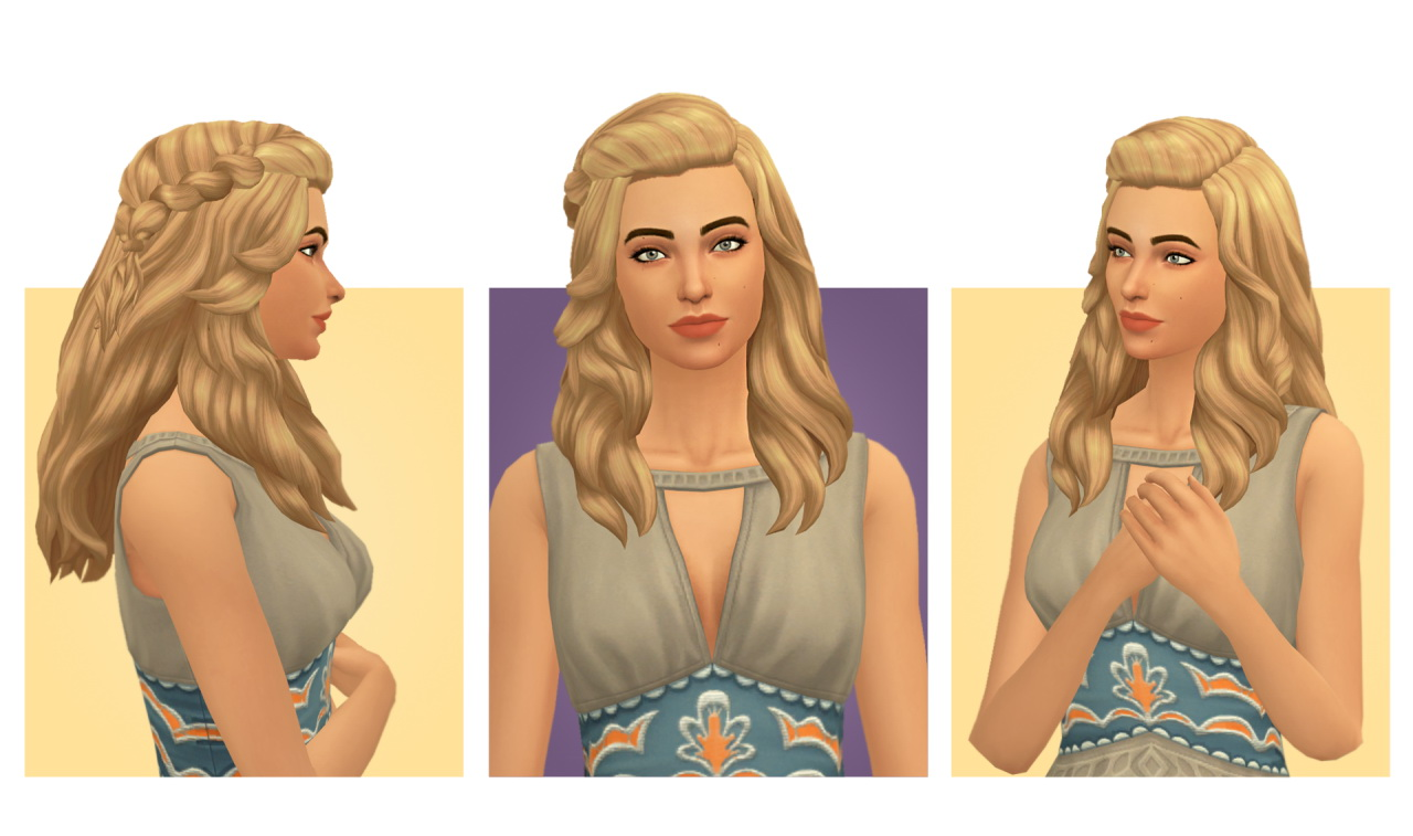 Sims 4 Hairs Simple Simmer Isabele Hair