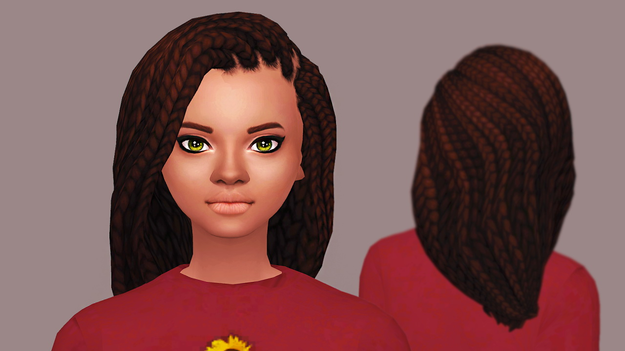Sims 4 Hairs Butterscotchsims Violet Hair
