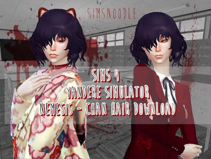 Sims 4 Hairs Sims Noodles Yandere Simulator Nemesis