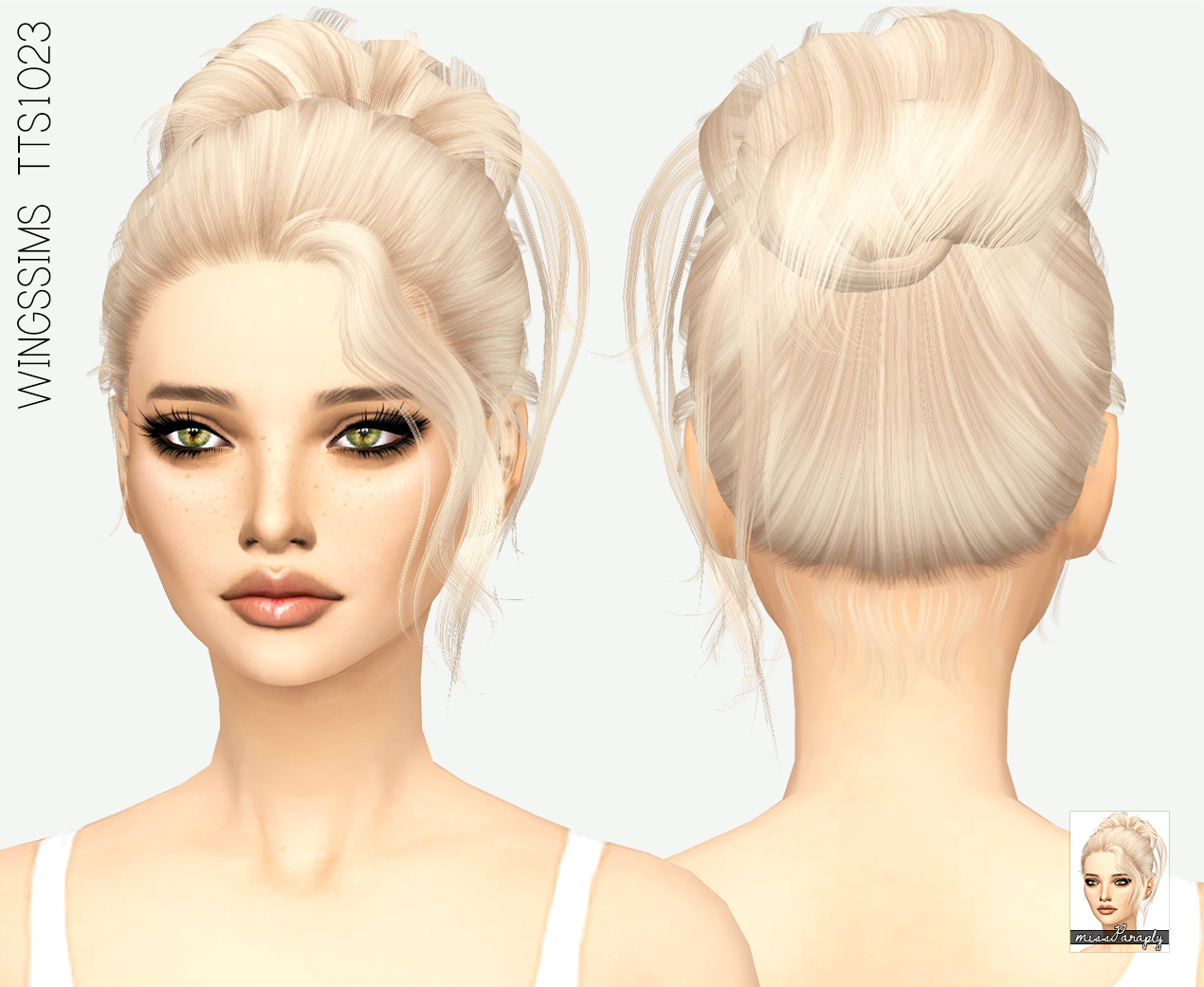 Sims 4 Hairs Miss Paraply Wingssims TTS1023