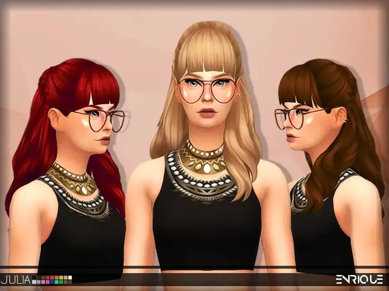 Sims 4 Hairs Enrique Julia Hair