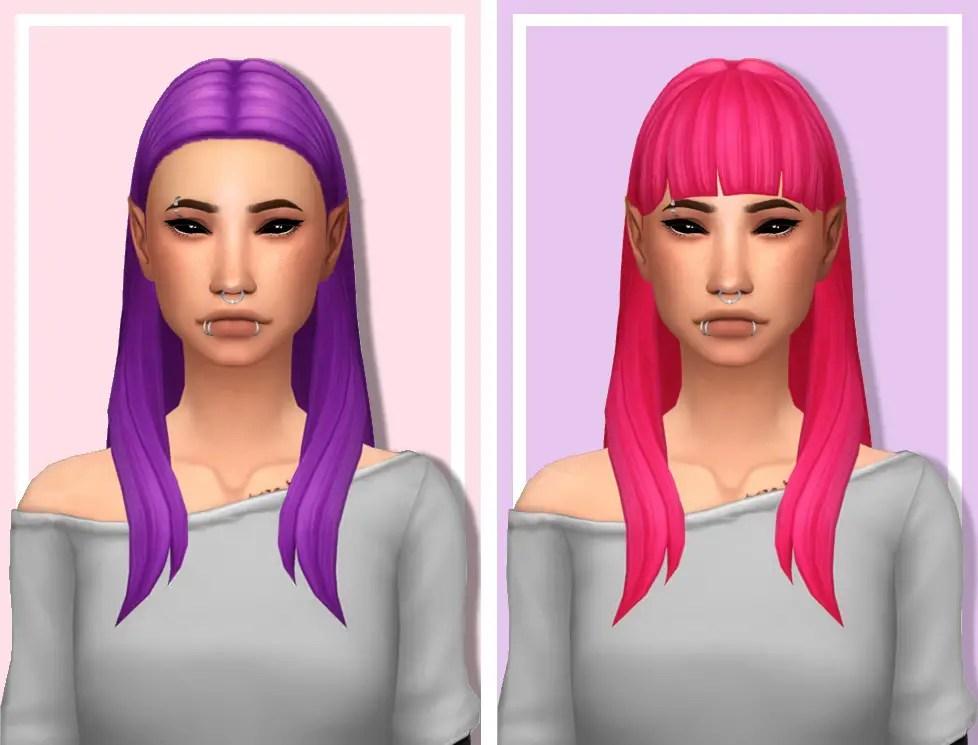 Sims 4 Hairs Tranquility Sims Hyena V1 And V2 Hair
