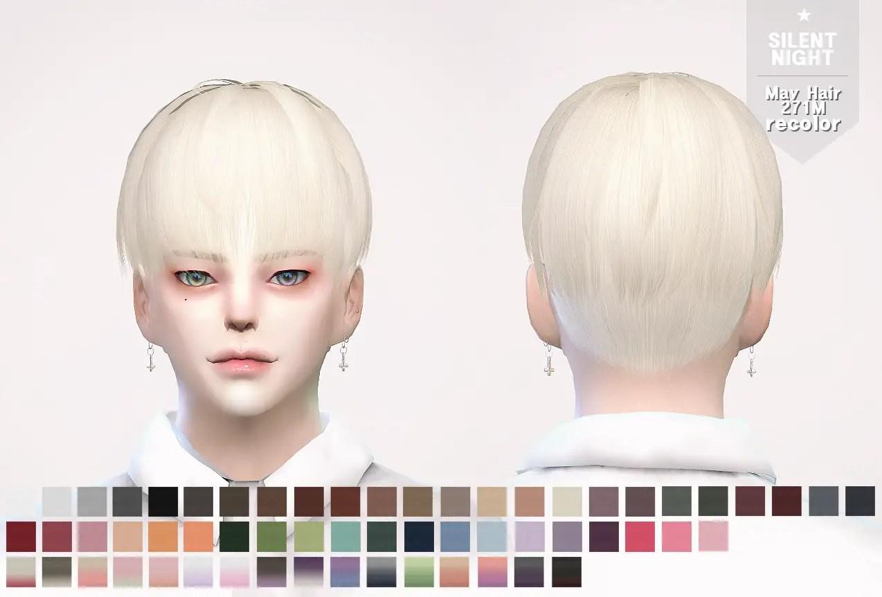 Sims 4 Hairs Silent Night May Hair271M Recolor