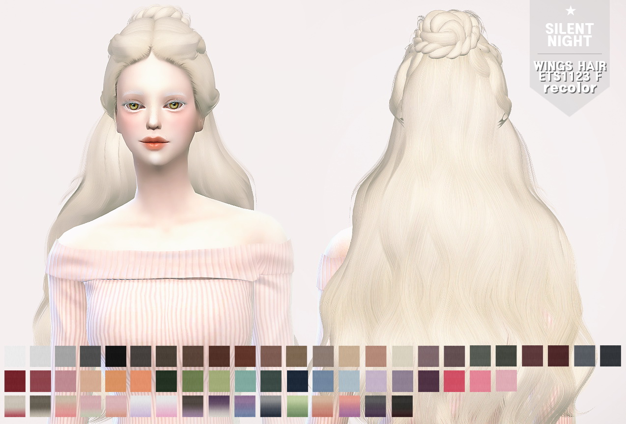 Sims 4 Hairs Silent Night WINGS HAIR ETS1123 F Recolor
